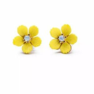Jewelry - Yellow Flower Stud Earrings
